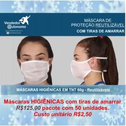 50 Máscaras de Proteção...