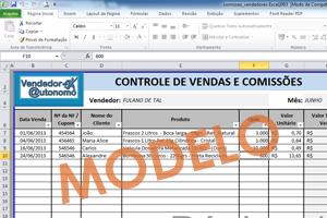 Download: Planilha de Controle de Vendas e Comissões